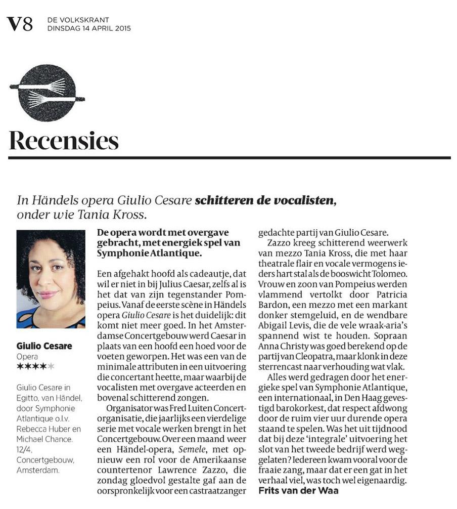 2015.04.14 Recensie Volkskrant